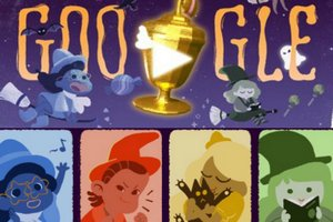 Trick or treat - gra na Halloween w Google doodle [fot. Google]