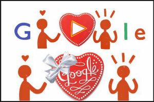 Walentynki w Google. Doodle na słodko i z serduszkiem [fot. Google]