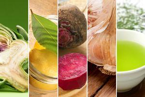 Wiosenna dieta oczyszczająca - najpopularniejsze produkty [fot. collage Senior.pl]