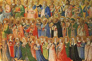 Wszystkich Świętych czy Święto Zmarłych? [fot. Święci, XV wieczny obraz Fra Angelico, PD]