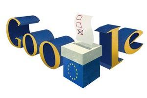 Wybory do Parlamentu Europejskiego 2014 w Google Doodle [fot. Google]