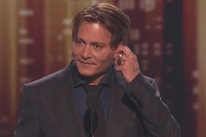 Wzruszony Johnny Depp odbiera People's Choice Awards [FILM] [Johny Depp, fot. People's Choice Awards]