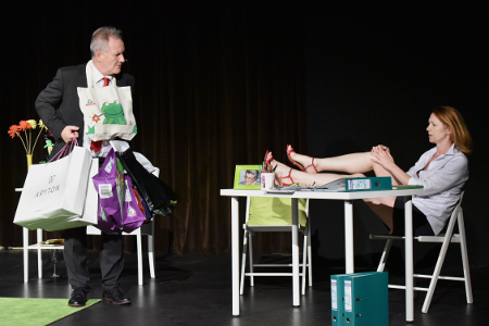 Aleksander Mikołajczak, Marzanna Graff, fot. scena z przedstawienia