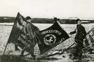 Zbliża się rocznica historycznej węgierskiej pomocy Polsce [Polscy żołnierze ze sztandarami zdobytymi na bolszewikach, fot. PD]