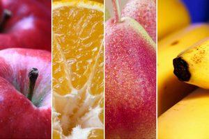 Zimowe owoce niezastąpione - sięgnij po jabłka, banany, gruszki i pomarańcze [fot. collage Senior.pl]