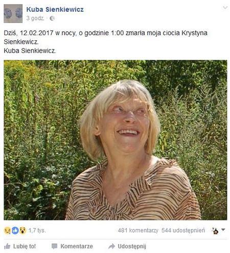 fot. Facebook/Kuba Sienkiewicz