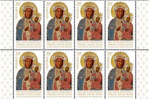 Znaczek z okazji 300-lecia koronacji obrazu Matki Bożej Częstochowskiej [fot. Poczta Polska]